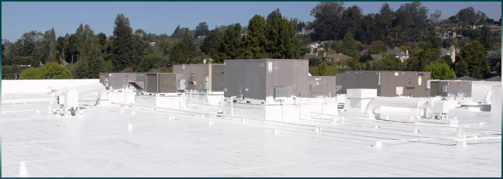 Commercial roof coatings and systems