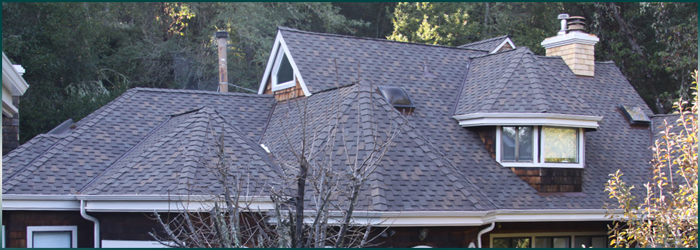 Victorian roof replaced with asphalt shingles