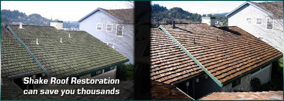 Shake roof restoration can save you thousands of dollars