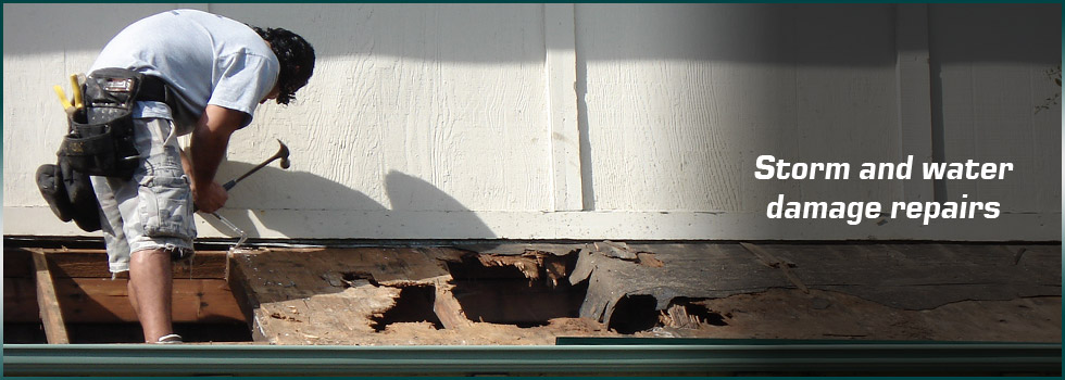 Storm and water damage repairs will get your home dry and safe again